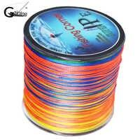Intrecciato linea di pesca 500 m Multi Color Super Strong Giappone Multifilament PE braid linea 10 20 30 40 60 80 100LB
