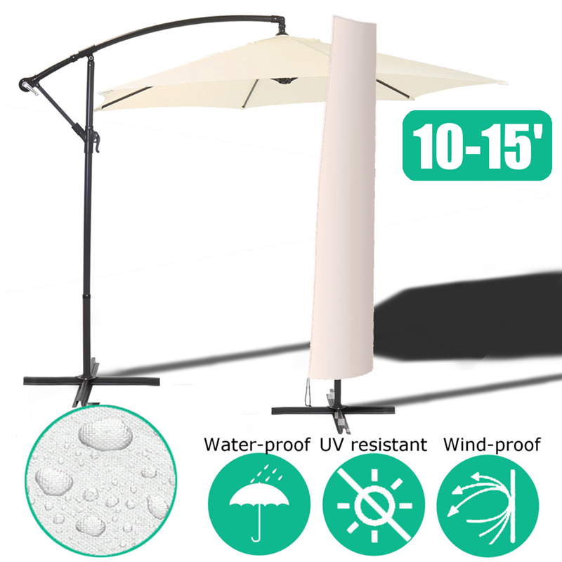 Waterproof Garden Patio Parasol Umbrella Rain Cover Polyester Canopy Sunblock Protective Cover Bag Outdoor Rain Gear AccessoriesWaterproof Garden Patio Parasol Umbrella Rain Cover Polyester Canopy Sunblock Protective Cover Bag Outdoor Rain Gear Accessories