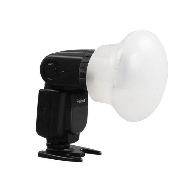 New Selens Từ Silicon Ánh Sáng Khuếch Tán Cao Su Hình Cầu Modular Phụ Kiện Đèn Flash cho Canon Nikon Yongnuo on-Camera Speedlite