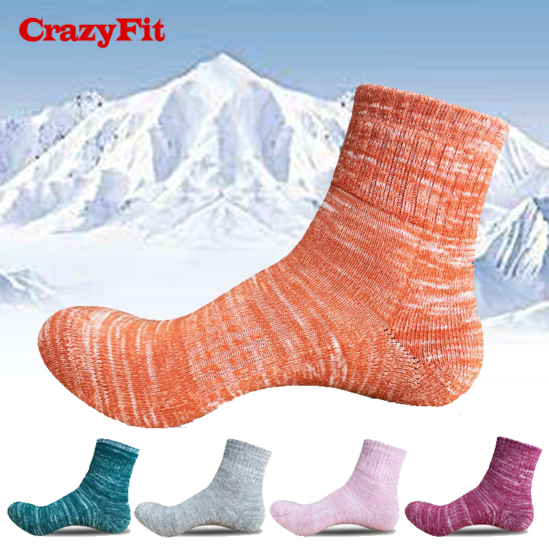 Sport Ski Socks 2018 Women Thick Thermal Winter Ankle Cycling Soccer Running Hiking Skiing Football Bike Gym Ladies Sports Sock