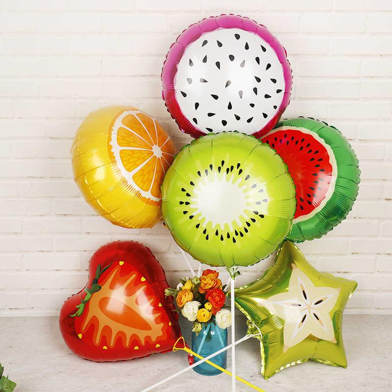 1 قطعة كبيرة هامبورغ مثلجات بالون الفاكهة بالونات حفلة عيد ميلاد زينة الاطفال الصيف لوازم الديكور حفلة الاطفال لعبة
