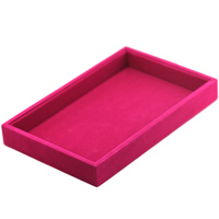 MMS Six Colors Velvet Jewelry Ring Earrings Necklace Jewelry Display Box Holder Organizer Box