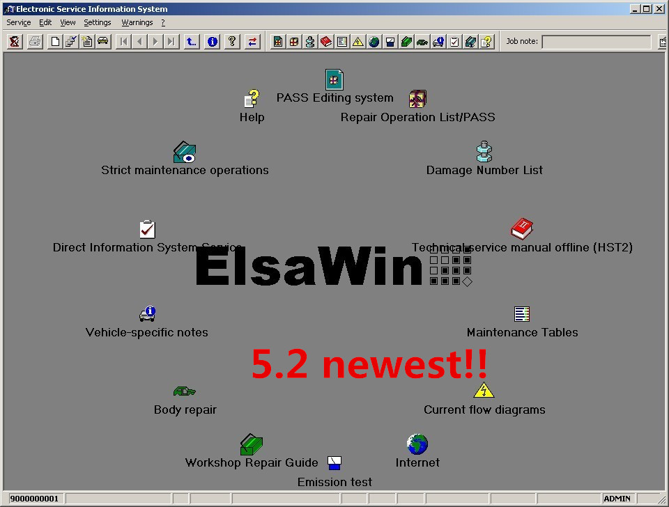 Newest Elsawin 6.0 For  Vw Auto Software In Cd