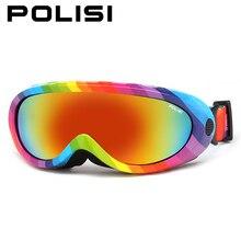 Polisi invierno niños nieve esqui ski snowboard gafas de protección al aire libre skate anti-vaho uv400 gafas gafas de motos de nieve