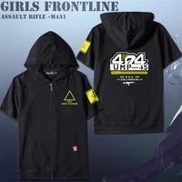Game Girls Frontline UMP45 Team AR Cosplay Summer Short Sleeve T shirt Tee Tops Men Women Zipper Hooded Casual T shirt Daily