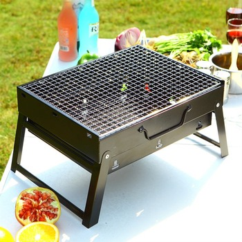 Barbecue Grill Portable Folding BBQ Charcoal Grill Smoker Grill for Outdoor Cooking Camping Hiking Picnics Backpacking