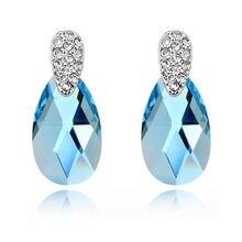 Женские серьги с кристаллами swarovski модные вечерние подвески