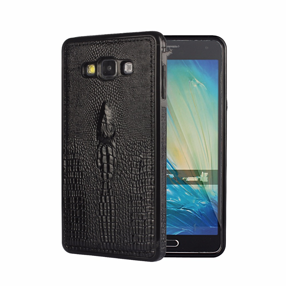 szHAIyu A7 2015 Cover -- New 3D Crocodile Head Pattern PU Leather Mobile Phone Case For Samsung Galaxy A7 2015 Back Cover Shell