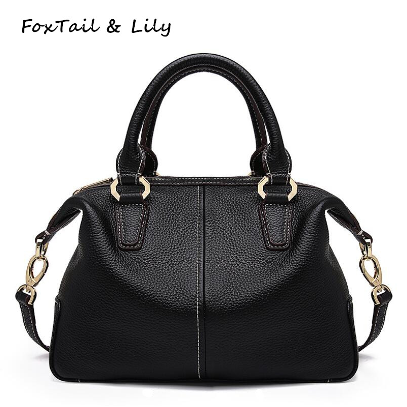 FoxTail & Lily Brand Designer Genuine Soft Leather Handbags Elegant Women Shoulder Messenger Bags Fashion Ladies Crossbody Bags foxtail
