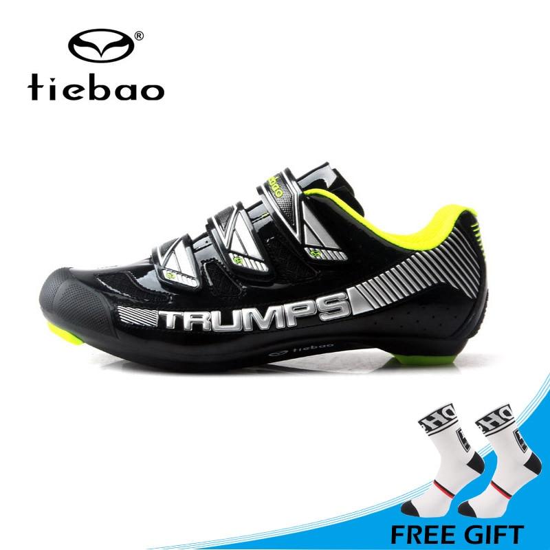 Tiebao New Design Men Road Bike Bicycle Shoes Anti slip Breathable Cycling Shoes Hook&Loop Self locking Shoes Zapatos bicicleta|zapatos bicicleta|bicycle shoes|cycling shoes - title=