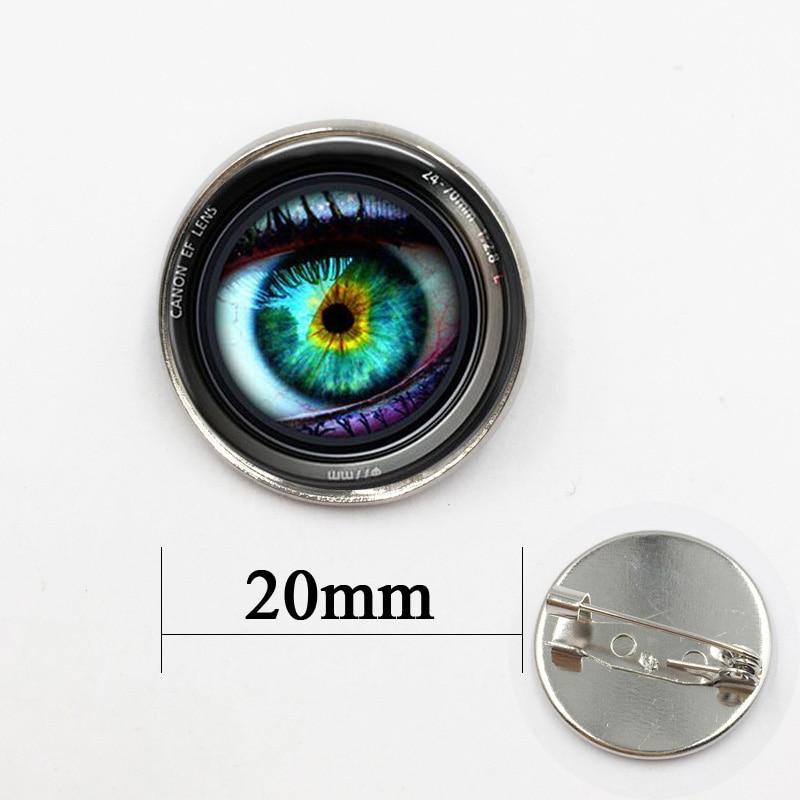 Badge Pin Vintage Circle Button Pendant Brooch