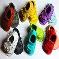 Borlas de couro genuíno sapatos de bebê verão mocassim recém-nascido da criança sapatos macios inferior crianças Crib Shoes primeiros Walkers