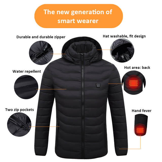 Battery Heated Clothing >> Us 41 99 25 Off Hunting Fishing Camping Hiking Outdoor Sports Usb Electric Battery Heated Jacket Heating Hoodie Cloth Warmer Coats Best Gift In