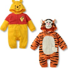 Baby Boy Clothes 2019 Spring Autumn Kids Romper Long-Sleeved Cartoon Tiger Cute Bear Style Baby Jumpsuit Rompers For 6-18M heating powerful clit vibrators for women usb charge av magic wand vibrator massager adult sex toys for woman masturbator