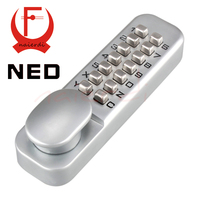 NED Zinc Alloy Miniature Mechanical Ciper Lock Waterproof Numberal Door Digital Lock Keyless Password Non Power Locks For Home