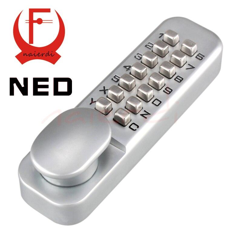 Serrure à Ciper mécanique Miniature en alliage de Zinc NED étanche serrure numérique porte numérique sans clé mot de passe serrures Non électriques pour la maison