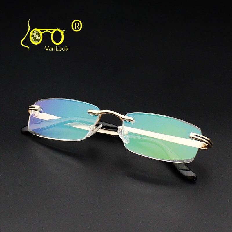 649005812e7e0 Men s Reading Glasses Rimless Diamond Cutting Edge +1.00 1.50 2.00 2.50  3.00 3.50 4.00 Antiglare