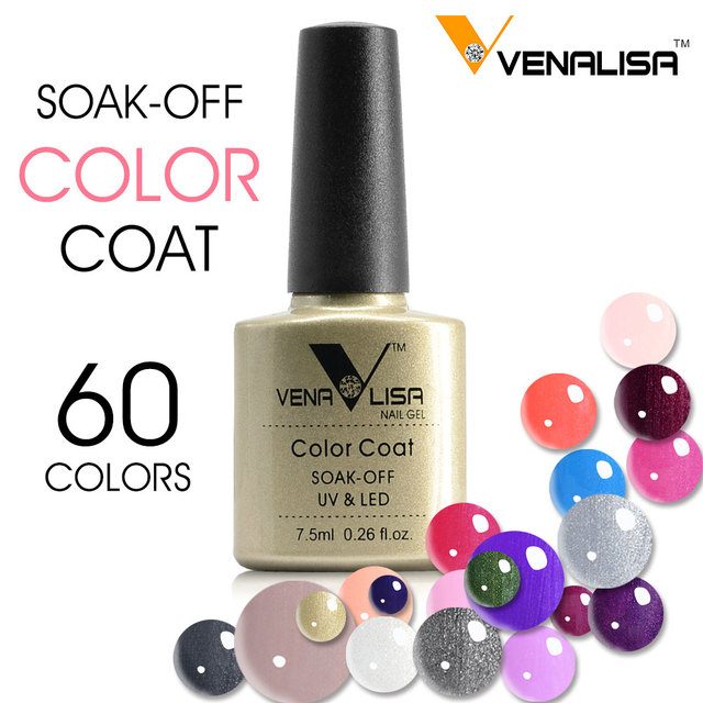 #61508 2017 new product soak off uv gel painting 60 color Venalisa gel  polish *62 pcs