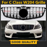 For W204 AMG GT GTR Grille for Mercedes Benz C Class W204 racing grille C180 C200 C250 C300 2008 2014 front grill