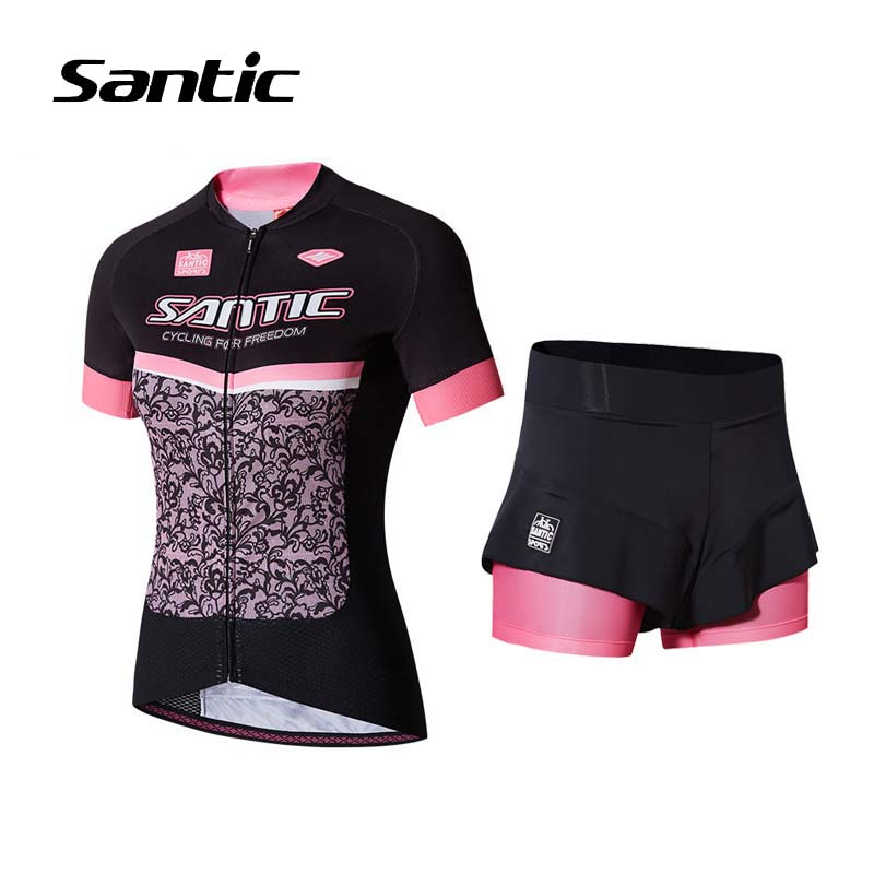 Santic Cycling Clothing Women Short Sleeve Breathable Cycling Jersey Sets Padded Road Mountain Bike Shorts 2018 Bicycle Clothes santic cycling clothing women short sleeve breathable cycling jersey sets padded road mountain bike shorts 2018 bicycle clothes