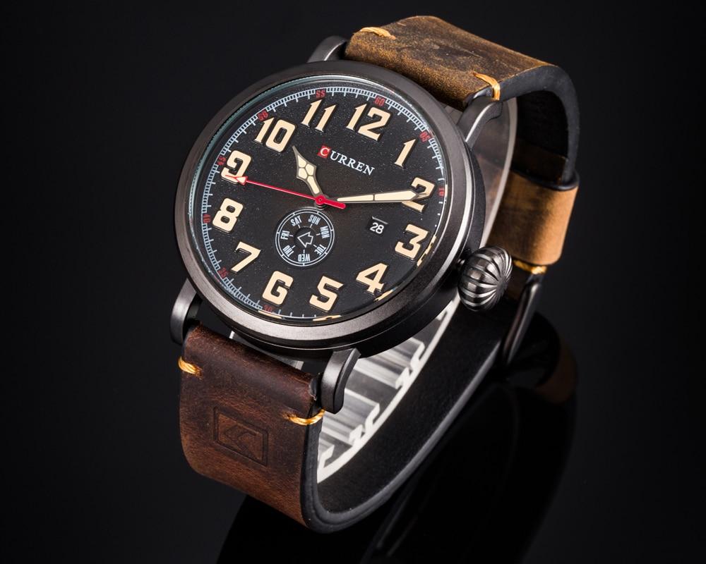 HTB1BeaJf9BYBeNjy0Feq6znmFXai Men Watch Brand CURREN Fashion Big Digital Dial Male Wristwatch Casual Calendar Quartz Leather Clock Montre Homme Reloj Hombre