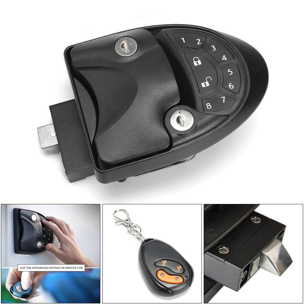 3 en 1 moto serrure sans clé poignée mot de passe intégré clavier verrouillage à distance et serrure à clé remorque attelage mot de passe capteur de verrouillage