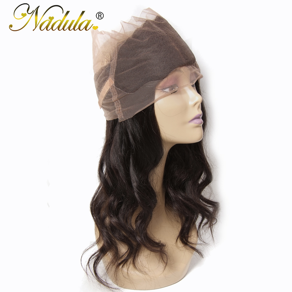Nadula Hair Brazilian Body Wave Remy Hair 360 Lace Frontal 10 20inch Free Part Hair Closure