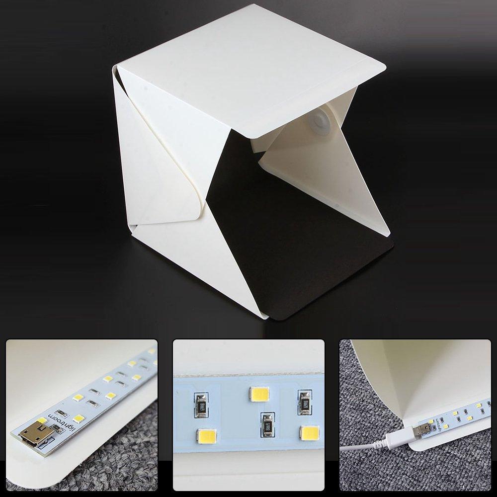 Portatile Pieghevole lightbox Fotografia Photo Studio Softbox Kit di Illuminazione Light box per iPhone Samsang Digitale