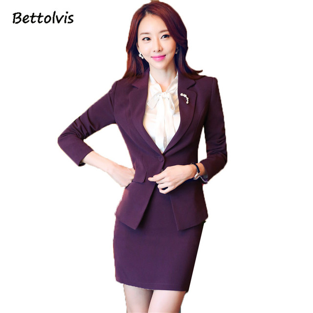 2018 Female Purple Blazer Women Elegant Blazer Jacket Women Business