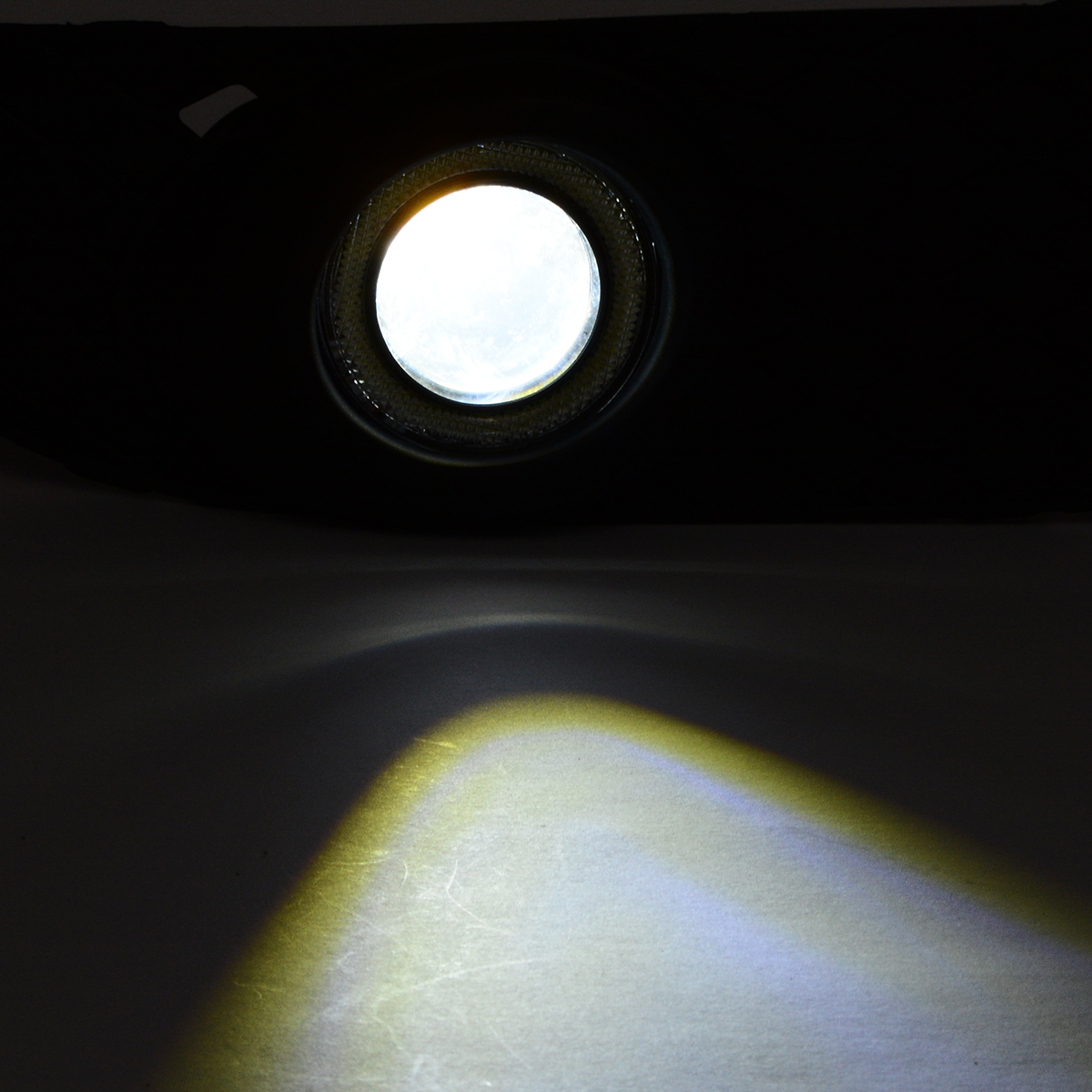 2pcs/set Angel Eyes Fog Light Lamp Front Bumper Grille Driving Fog Lamp Cover For Mitsubishi Lancer 2008-2014