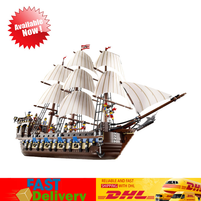 2018 Pirates of the Caribbean Imperial Flagship Model Building Block Bricks Kits Toys for Children Compatible LegoINGlys 10210 ghost zombie shark action bricks single sale pirates of the caribbean building bricks toys for children