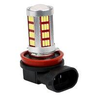 ITimo 2pcs H11 LED Headlight Headlamp DC 12V Fog Lights Lamps H8 H9 H11 4014 66SMD