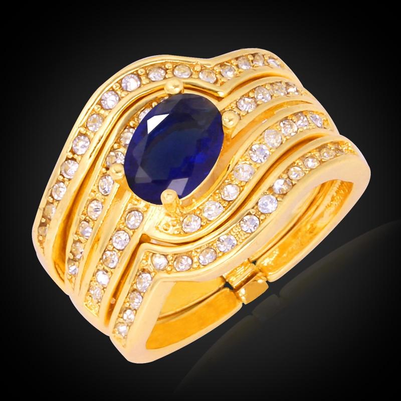 Aufrichtig Kpop Top Qualität Kubikzircon Verlobungsring Für Frauen/männer Gelb Gold Farbe Mit Geschenkbox New Fashion Trendy Ring Marke R601 Schmuck & Zubehör