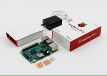 Promo offer Free shipping raspberry pi kit Original raspberry pi 3 B model Development board with heatsink +adapter+case +charger