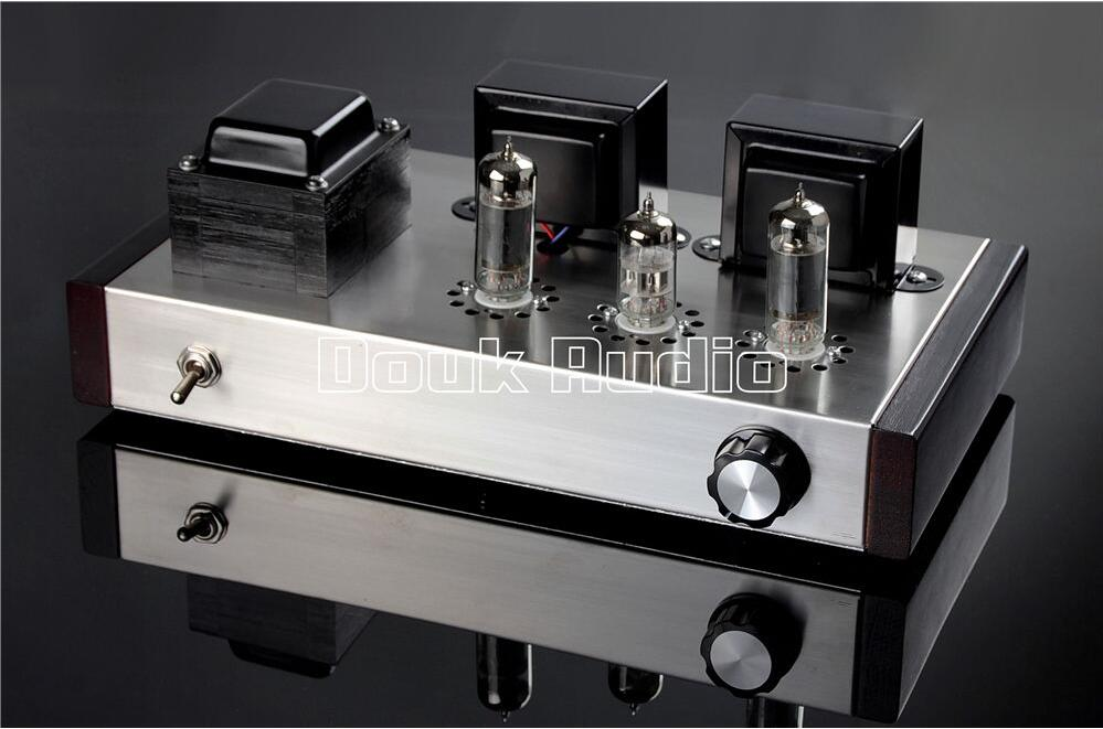 цена на Douk Audio 6N2+6P1 Vacuum Tube Amplifier Stereo Integrated Class A Power Amp 4W+4W Pure Handmade