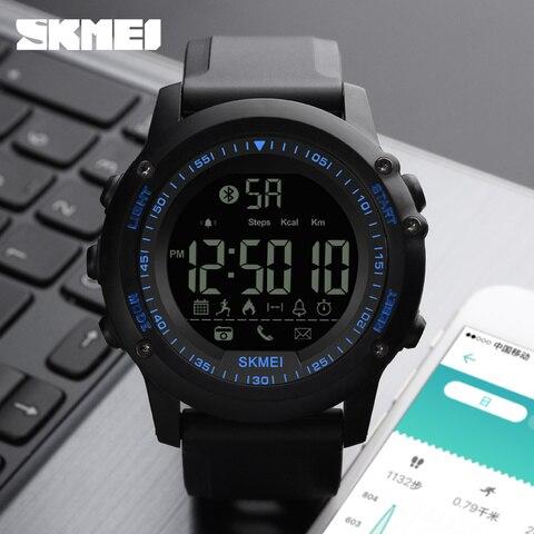 SKMEI Mens Watches Top Brand Luxury Sport Smart Watch Silicone Strap Clock Men Waterproof Bluetooth Smartwatch Relogio Masculino Lahore