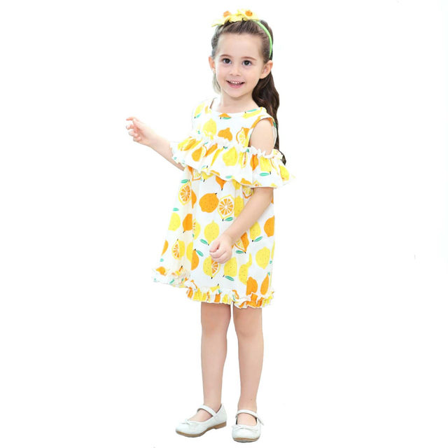 Childrenu0027s Clothing Baby Girls Lemon Dress Summer Holiday Party Casual Ruffles Crop Dresses for Little Girls Kids Costume Yellow  sc 1 st  Aliexpress & Online Shop Childrenu0027s Clothing Baby Girls Lemon Dress Summer ...