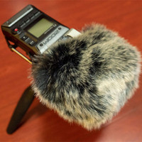 Deat cat Outdoor artifical fur wind muff windscreen shield for Zoom H5 H6 Wind muffler windscreen for Zoom H5  H6 Blue Mantis