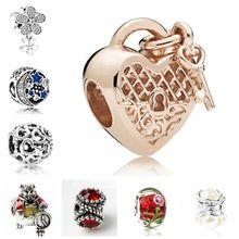 c82d032ba849 Maxi Crystal Europea encanta granos pequeñas estrellas flores corazones del amor  simulado perla colgante cuentas Fit Pandora pul.