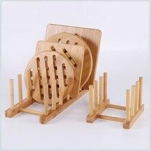 Foldable Health Bamboo Dish Rack Kitchen Storage Drain Board Book Organizer Display Drying