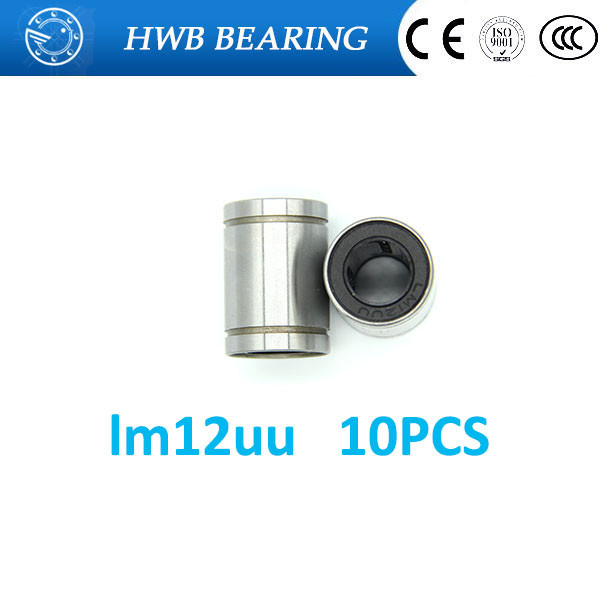 Free shipping LM12UU 12mm Linear Ball Bearing Bushing  Linear Bearings CNC 3d printer parts LM12  12*21*30mm free shipping lm60uu 60mm linear bushing cnc linear bearings