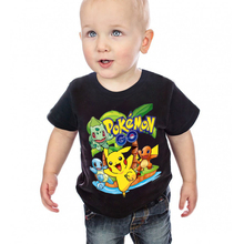 Z&Y 2019 Summer Pokemon Go T Shirt Boys Short Sleeve Shirts Children Top Girl Clothing Cartoon Pikachu Kids T-shirts