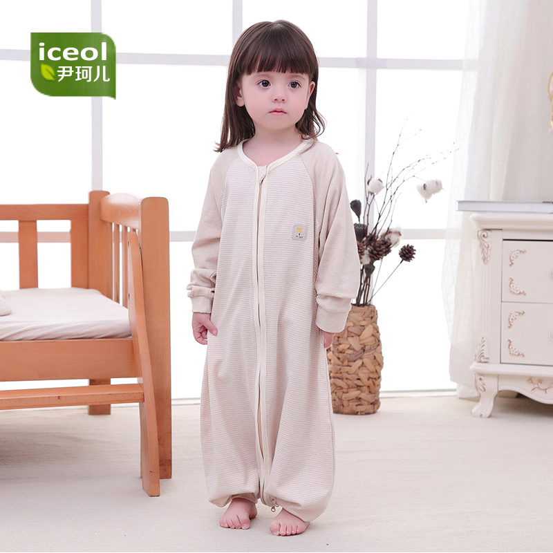 100% Cotton Children Blanket Sleepers Autumn New Zipper Kids Sleeping Bag Cartoon Boy Girl High Quality Baby Jumpsuit Bedding ...