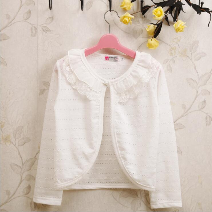 1 2 3 4 5 6 8 9Y Fashion Cotton Polyester Thin White Lace Sweaters ...