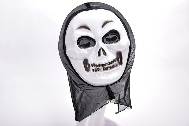 Halloween Cosplay Mask White Face Masks Ghosts Zombie Vampire Bloodsucker Demon Devil Cosplay Headgear Unisex Horror Headwear