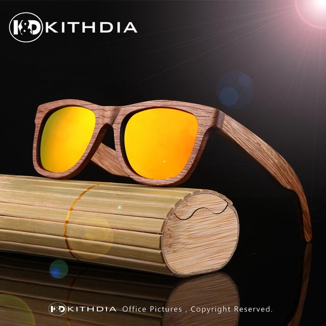 2017 Hombres Gafas De Sol De Bambú De Madera Cuadrada Espejo Polarizado Lentes de Caja De Madera de Bambú Gafas De Sol de Lujo Unisex gafas de Sol Verde