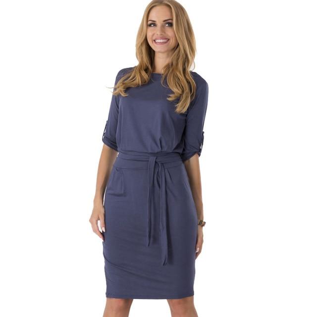 0ba97c0f1b7c 2019 New Fashion Hot Sale Celeb Summer Autumn Middle Sleeve Casual Work  Charm Dresses Wholesale
