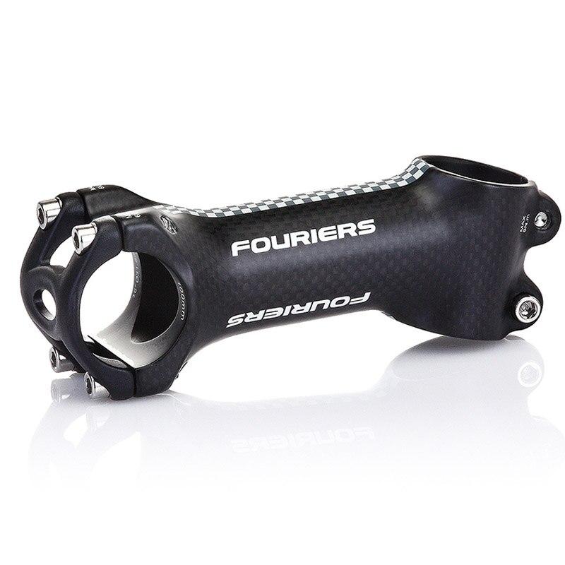 FOURIERS SM-CA001 CNC alliage d'aluminium extérieur fibre de carbone 31.8mm tige de vélo 17 degrés longueur 80mm 90mm 100mm 110mm
