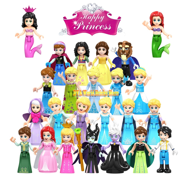 For Legoing Friends Fairy for Girls Figures Tale Princess Girl Maleficent Model Building Bricks Blocks Friends Children Toys kit