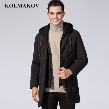 KOLMAKOV New Winter 90% Down Jackets Men 2018 Black Snow Down Hiking Parkas Mens Mountaineering Hooded Jackets Full Size M-3XL